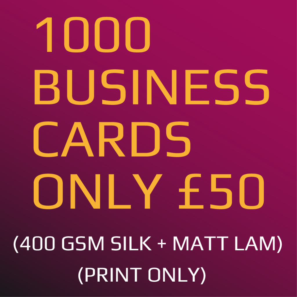 1000 x Business Cards (400gsm)