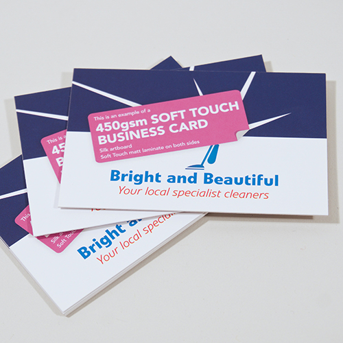 250 x (450gsm) Soft Touch Business Cards